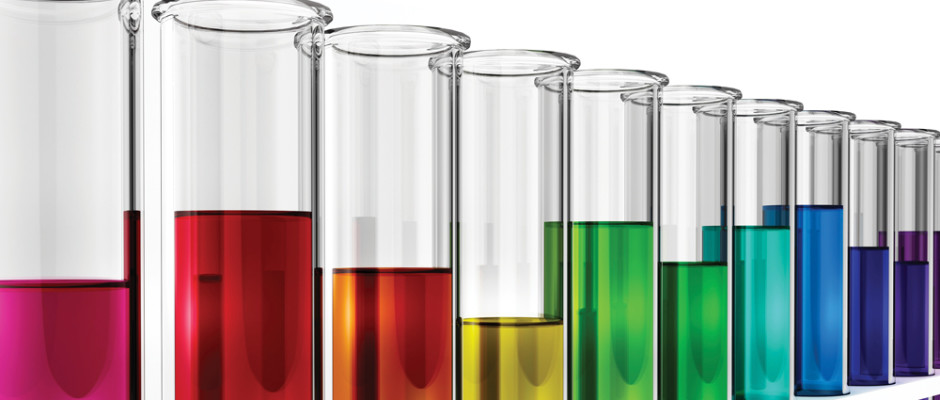 Colored Test Tubes